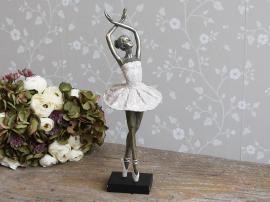 Ballerina danser H41 cm gl. rosa , hemmetshjarta.no