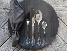 Bestikk 16 deler med mønster - sølv , hemmetshjarta.no