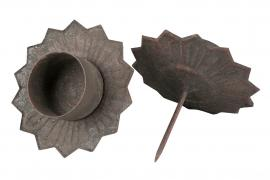 Telysholder Metal Natur 9x4x6cm 4-pack , hemmetshjarta.no