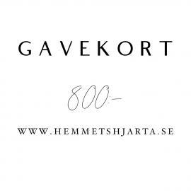 Gavekort - 800:- nok , hemmetshjarta.no