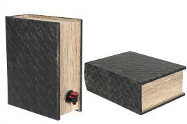 Bok lagring Vinboks Flettet skinn 30x23x11,5cm , hemmetshjarta.no