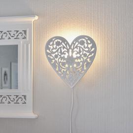 Lampe til Vegg Hjerte skåret detaljer , hemmetshjarta.no