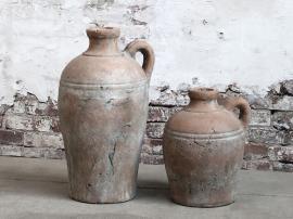 Terracotta flaske med håndtak H24 / L18.5 / B17.5 cm naturlig , hemmetshjarta.no