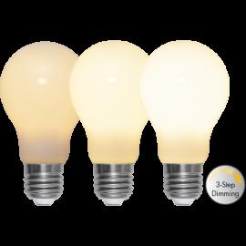 LED-Lampe E27 Ø60 Dim 3-step lm600/48w Frostet Ra90 , hemmetshjarta.no