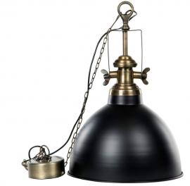 Lampe / Baron svart messing , hemmetshjarta.no