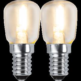 LED-Lampe E14 Ø26 lm100/11w Clear 2-pakning , hemmetshjarta.no