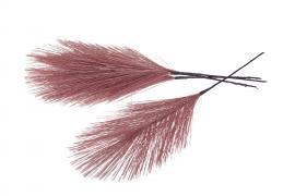 Syntetisk fjær / tråd rosa 17cm 12stk , hemmetshjarta.no