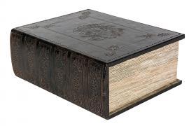 Bok lagring Vinboks Lær 30x23x11,5cm , hemmetshjarta.no