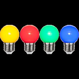 LED-Lampe E27 Outdoor Lighting G45 4-pack , hemmetshjarta.no