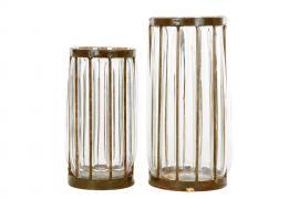 Vase/Lykt Glass/Rust Sierra 2-pack , hemmetshjarta.no