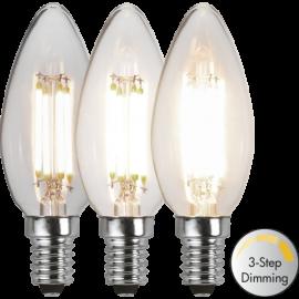 LED-Lampe E14 Ø35 Dim 3-step lm470/40w Clear , hemmetshjarta.no