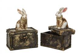 Eske med kanin 13x8x17cm 1 stk , hemmetshjarta.no