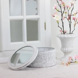 Eske med speillokk - antikkhvit , hemmetshjarta.no