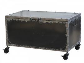 Factory koffert på hjul H39 / L67 / B41,5 cm antikk kul , hemmetshjarta.no