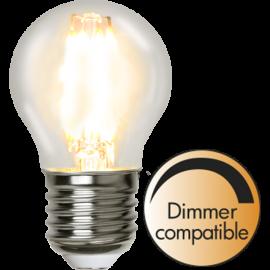 LED-Lampe E27 Ø45 lm420/37w Clear , hemmetshjarta.no