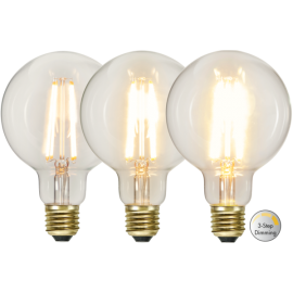 LED-Lampe E27 Soft Glow G95 Dim 3-step , hemmetshjarta.no