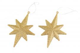 Stjerne Gull 11x15cm 2-pakning , hemmetshjarta.no