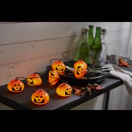 Lyslenke Batteridrevet Halloween Utendørs Kaldhvit 8 Lys 210cm , hemmetshjarta.no