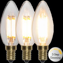 LED-Lampe E14 Soft Glow C35 Dim 3-step , hemmetshjarta.no