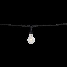 Utendørsdekorasjon System LED EL Lyslenke 10 Varmhvit 500cm , hemmetshjarta.no