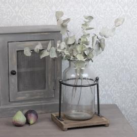 Vase / lykt med stativ 30 cm - resirkulert , hemmetshjarta.no