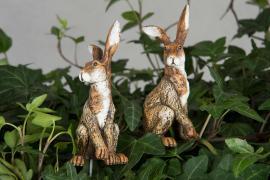 Hare Old / Stick Brown Poly 8cm 2-pakk , hemmetshjarta.no