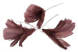 Fjær bukett til ris 12- pakning - mørk rosa , hemmetshjarta.no