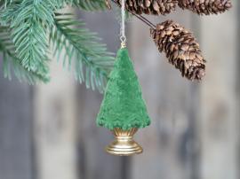 Juletre på fot for oppheng av velour H9,5 / Ø4,5 cm mose 4-pack , hemmetshjarta.no
