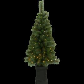 Juletre med LED Hytte EL Utendørs Varm Hvit 90 Lys 50x120cm , hemmetshjarta.no