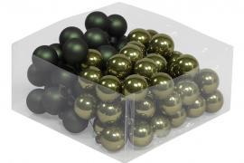 Glasskule.Bas Mørkgrønn Mix 3cm 72stk , hemmetshjarta.no