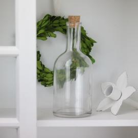 Glassflaske Klar 400ml 8x18cm , hemmetshjarta.no