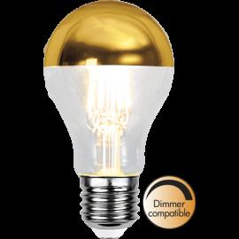 LED-Lampe E27 Top Coated Ø60 Dim lm350/32w Gold , hemmetshjarta.no