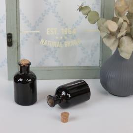 Glassflaske Mørk brun 150ml 5,7x10,3cm , hemmetshjarta.no