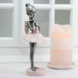 Balettdame stående - støvrosa , hemmetshjarta.no