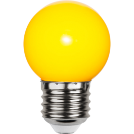 LED-Lampe E27 Outdoor Lighting G45 Gul , hemmetshjarta.no