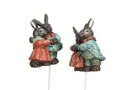 Hare / Stick Old Duo Poly 6cm 2-pakk , hemmetshjarta.no