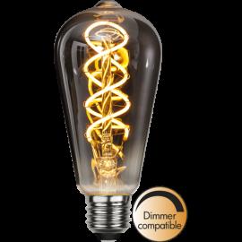 LED-Lampe E27 Decoled Spiral Smoke ST64 Dim , hemmetshjarta.no