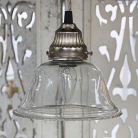 Lampe med perleglass håndlaget Ø17 cm , hemmetshjarta.no
