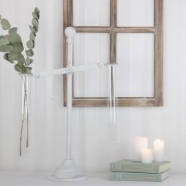 Vase prøverør - hvit , hemmetshjarta.no