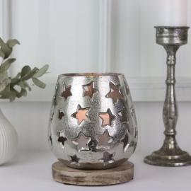 LysLykt Stemning 18 cm - sølv , hemmetshjarta.no