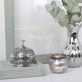 Resepsjons klokke - Antikk sølv , hemmetshjarta.no