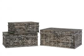 Boks/eske/Metall G.Brun 28x22x13cm 3-pack , hemmetshjarta.no