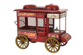 Dekoration Popcornvogn Rød 25 cm , hemmetshjarta.no