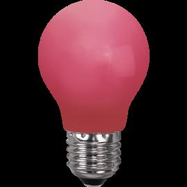 LED-Lampe E27 Outdoor Lighting A55 Rød , hemmetshjarta.no