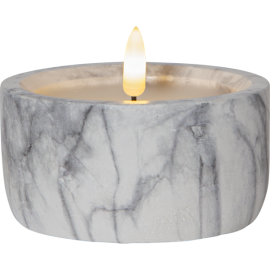 LED Kubbelys Flamme Marble 7.5 cm , hemmetshjarta.no