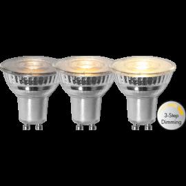 LED-Lampe GU10 MR16 Spotlight Glass Dim 3-step , hemmetshjarta.no