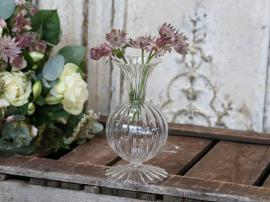 Vase H15,5 / Ø8 cm klar , hemmetshjarta.no