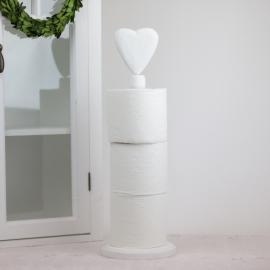 Toalettpapirholder Hjerte - vit , hemmetshjarta.no