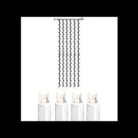 Utendørsdekorasjon System LED EL Lysgardin Extra Kallvit 204 lys 100x400cm , hemmetshjarta.no