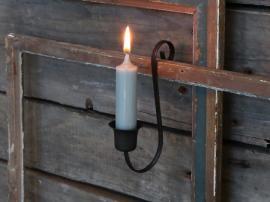 Gammel fransk lysestake for kirkelys H14 cm antikk kull , hemmetshjarta.no